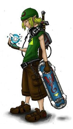 Modern day Link! Awesome.