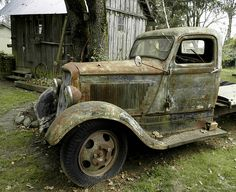 This is an abandoned 1934 Dodge truck along Hwy. 219 in rural Hillsboro, Or.