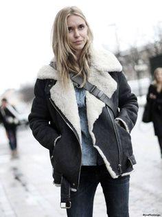 Looks Mode, Veste En Cuir, Manteau Veste, Manteaux, Vetement Hiver Femme, ed26a6465657