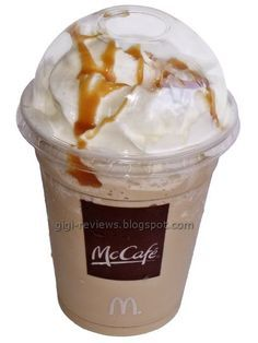 McDonald's Restaurant Copycat Recipes: McDonald's Caramel Frappe #foods #recipes
