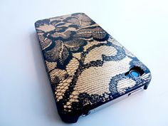 Lace painted iPhone case! I'm so making this!