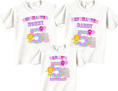 5th Birthday Shirts for Mom Dad Birthday Girl por TheCuteTee
