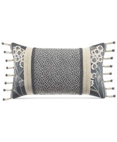 "Croscill Paloma 21"" x 12"" Boudoir Decorative Pillow"
