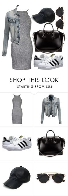 """WAY TOO 2015"" by shyyypieee ❤ liked on Polyvore featuring Oh My Love, LE3NO, adidas Originals, Givenchy, Vianel and Christian Dior"