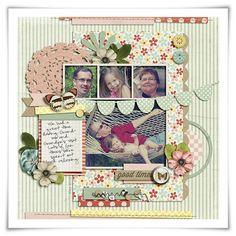 Inspiration du Jour | Good Times by Lisa Reid    Scrapbooking | CraftGossip.com