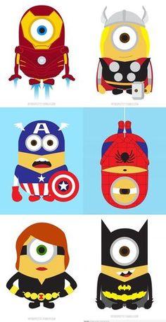 They all married Minion Superhero, Minion Avengers, Superhero Classroom, Superhero Party, Minions Despicable Me, My Minion, Minions 2014, Minion Birthday, Minion Party