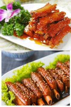 Orange pork ribs is