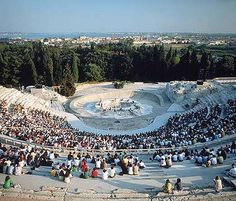 Greek Classical Drama. Every year from May to June in the Greek Theatre. Two tragedies run on alternate days. Have attracted some of Italy's finest actors, including Marcello Mastoianni and Vittorio Gassman. All the performances are in Italian.
