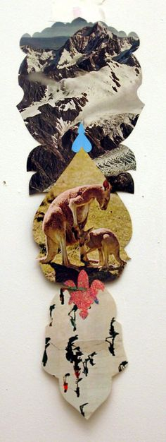 I am the anti-craft, but this rocks my world. collage totems; by denise kupferschmidt