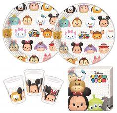 36 Teile Disney's Tsum Tsum Party Set für 8 Kinder - Kids Party World Tsum Tsum Birthday Cake, Tsum Tsum Party, Disney Tsum Tsum, Party Emoji, Little Girl Birthday, Disney Birthday, Disney Discounts, Family Birthday Shirts, Party World