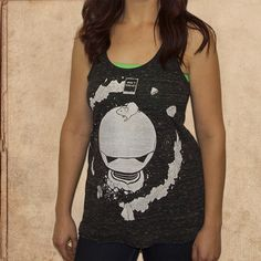 Hitchhikers Guide - women's relaxed fit racerback tank - black