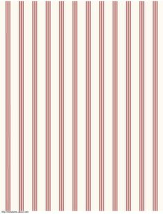 Free Printable French Themed Dollhouse Wallpapers in Three Scales: Striped French Printable Dolls House Wallpaper