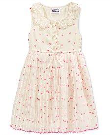 Blueberi Boulevard Little Girls' Dot-Print Peter Pan-Collar Dress