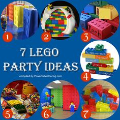 Lego Theme Ideas...not sure if this would be a better birthday party for my son or my husband :)