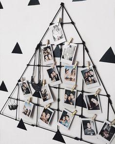 Não creio que você ainda não foi lá no canal aprender como faz esse mural de fotos e essa parede de triângulos (e um calendário lindo). Vem! Link no perfil. www.youtube.com/tallimalvezzi