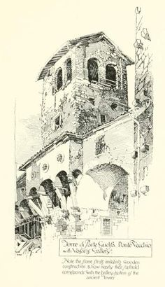 """Pen Drawings of Florence"" by Herbert Railton"