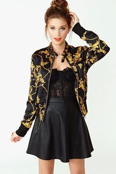bomber jacket. so cute!