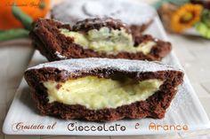 La Crostata al Cioccolato e Crema all'Arancia è davvero golosa