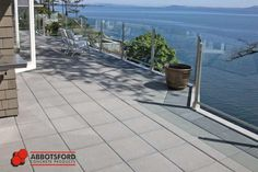 Use of HydraPressed Slabs on private terrace with an amazing view.