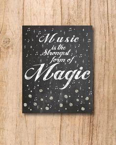 Music is the Strongest form of Magic  8x10 by xoLoreyDesigns