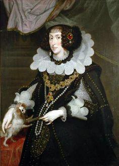 Portrait de l'archiduchesse Marie Anne d'Autriche, électrice de Bavière, 1643 Joachim von Sandrart
