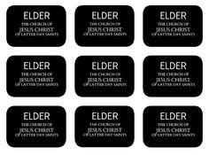 Printable Missionary Tags