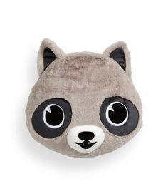 Stuffed animal-shaped pillow in soft pile with polyester fill. Diameter approx. 15 1/2 in.
