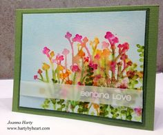 Joanna Harty for CAS-ual Fridays Stamps featuring Casual Comfort www.cas-ualfridaysstamps.com #casfridays #watercolor