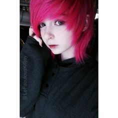 a pic of me from a whiile ago xD I kinda miss my hair being all short and stuff •~•