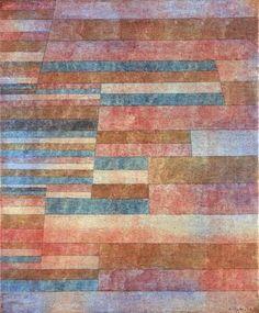 """Paul Klee: """"Stufen"""", 1929, Öl und Feder auf Leinwand (© Moderna Museet, Stockholm)"""