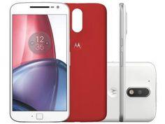 Smartphone Motorola Moto G 4ª Geração Plus 32GB - Branco Dual Chip 4G Câm. 16MP + Selfie 5MP