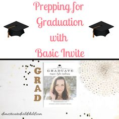 Now that spring is here, it's time to start getting ready for school ending. Here's some ideas on prepping for graduation season with @basicinvite ! #sponsored