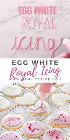 By using pasteurized eggs, you can safely make egg white royal icing for your cookies without using hard-to-find meringue powder. dinner dessert How to Make Egg White Royal Icing Royal Icing Cookies Recipe, Royal Icing Recipe Without Meringue Powder, Cake Icing, Royal Icing Recipe Using Egg Whites, Martha Stewart Royal Icing Recipe, Cookies By Design Recipe, Hard Sugar Cookie Icing, Easy Cookie Frosting Recipe, Decorated Cookies