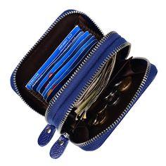Yuhan Pretty Womens Credit Card Wallet Holder RFID Genuine Leather Zipper... New #YuhanPretty