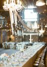 Long tables and chandeliers