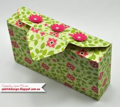 Splotch Design - Jacquii McLeay - Stampin Up - Envelope Punch Board Box