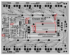 Power amplifier Xrown XLS circuit diagram, max output power about you can see the circuit diagram and PCB Layout design here. Crown Amplifier, Stereo Amplifier, Electronic Schematics, Electronic Circuit, Circuit Board Design, Diy Crown, Circuit Diagram, Loudspeaker, Electronics Projects