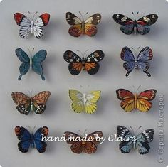 Easy and Fun Valentines Crafts for Kids to Make - Paper Butterfly Origami Art 3d Quilling, Quilling Butterfly, Paper Quilling Designs, Origami Butterfly, Quilling Patterns, Quilling Ideas, Butterfly Mobile, Felt Patterns, Origami Art