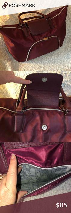 Race Ready Lady Nascar Denim Canvas Purse Bag inside zipper compartment  # 9