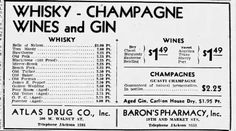 First Liquor and Wine ad in The Courier-Journal after the repeal of prohibition Dec. 17, 1933 Louisville, Ky