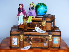 Suitcases cake version 2 by bubolinkata, via Flickr