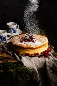 lovely food photo with sprinkle of sugar on top | dark food photography| raquelcarmona: Sugar by Raquel Carmona >> second hand cloth…
