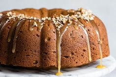 Pumpkin Cake with Buttered Rum Glaze