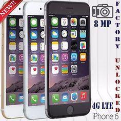 Apple Iphone 6 & 6+ (16 / 64 / 128 GB)  FACTORY UNLOCKED PHONE LTE IOS 9.4 HD NW