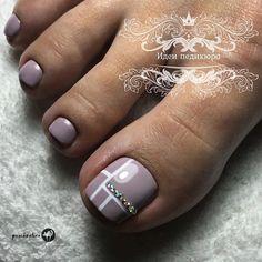 Cute Simple Nails, Cute Toe Nails, Super Cute Nails, Toe Nail Art, Pretty Nails, Elegant Nail Designs, Toe Nail Designs, Beautiful Nail Designs, Pedicure Designs