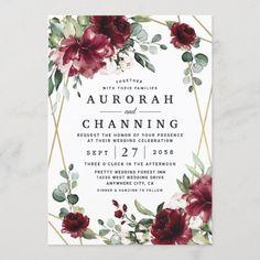 Burgundy Wedding Invitations, Engagement Party Invitations, Elegant Wedding Invitations, Wedding Programs, Wedding Stationery, Wedding Cards, Engagement Parties, Destination Wedding, Wedding Envelopes
