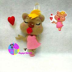 #felt #doll #viber #cute #royayenamadi #sticker #عروسک #نمدی #زیبا