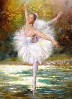 Ballet Oil Paintings | ballet painting