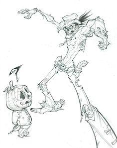 ZOMBIE sketch by ZurdoM.deviantart.com on @deviantART