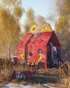Il crée des paysages apocalyptiques avec les symboles de la pop culture